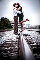 Angela and Brandon's Engagement Session in Downtown Mobile