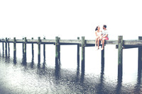 Leah and Justin's Engagement Session at Fairhope Pier