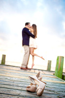 Jami and Alex's Engagement Session at Fairhope Pier