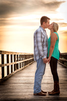 Kate and Matt's Engagement Session at Daphne Bayfront Pier