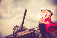 Summer and Shane's Engagement Session at The Battleship and Downtown Mobile