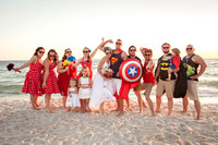 Summer and Shane's Awesome Old School Super Hero Beach Wedding in Panama City